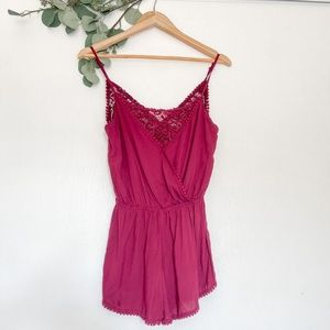Flirty Wine Color Romper